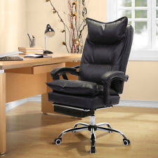 Office reclining chair Ultimate High Back Pu Leather Reclining Office Chair Ergonomic Footrest Armchair Buyinghack Reclining Office Chair Ebay