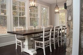 josh leg pedestal base farm table farmhouse dining room on farm dining room table