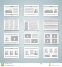 Page Layout Template Set Stock Vector Illustration Of Book 31556415