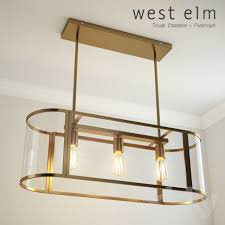 trough chandelier flushmount