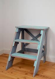 vintage x back step stool end table