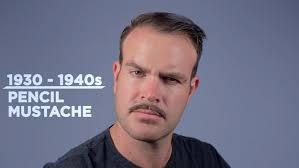 1930s 40s pencil mustache