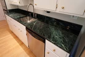 green marble kitchen countertop