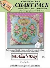 Mother Day Chart Mothers Day Cross Stitch Mini Cushion Chart Pack