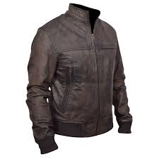 vampire diaries faded black leather jacket