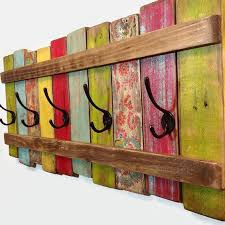 Painted Coat Rack Inspiration Reclaimed Wood Painted Coat Rack Great Lakes Reclaimed