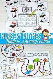 Nursery Rhyme Literacy And Math Stations