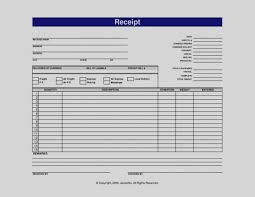 Blank Receipt Template Word Collection Of Blank Receipt Template Microsoft Word 24 Ms Invoice 5