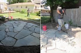 patio sand stone diy
