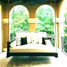 outdoor hanging bed porch plans free swing