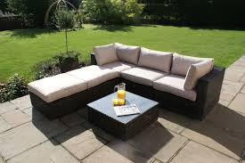 maze rio rattan corner sofa set brown