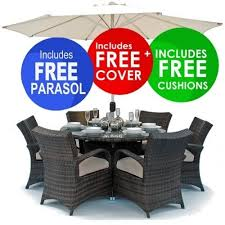 round rattan table and 6 chairs. houston rattan outdoor garden furniture round table 6 chair set with cushions and chairs e
