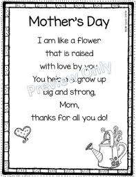 Small Picture Mothers Day Like a Flower Printable Poem for Kids Poem