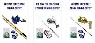 uk shark fishing preview guide rok max shark fishing tackle outfits