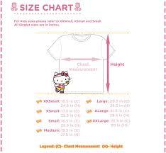 Hello Kitty Size Chart Hello Kitty Run Kulit On The Run