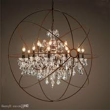 country hardware vintage orb crystal chandelier lighting rh rustic throughout preferred globe crystal chandelier gallery