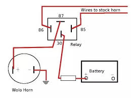 horn relay diagram wiring horn relay connection diagram at Bosch Horn Relay Wiring Diagram