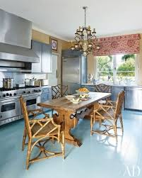 at a family s miles redddesigned retreat in the bahamas the kitchen s hinson co wall covering