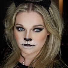 easy wearable black cat makeup