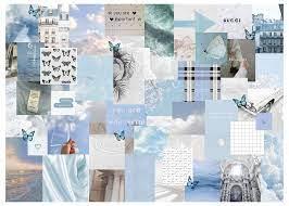 blue + white aesthetic laptop wallpaper ...