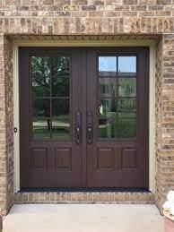 fiberglass entry door has look and feel