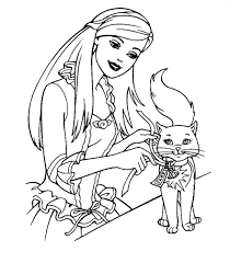 Coloring Pages Coloring Pages Barbie Book Color Page Free With