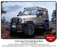 off road unlimited roof racks jeep wrangler tj gobi roof racks