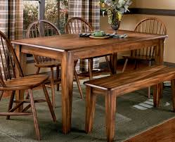 luxurious old and vintage country style dining room sets with varnish wooden dining table and 4