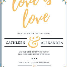 a free wedding invitation template that says love is