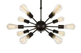 electro bp vintage metal large chandelier with 12 lights black finish