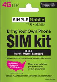 Bring Your Own Phone Sim Kit