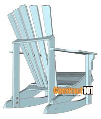 Adirondack Rocking Chair Plans Construct101