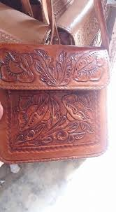 chiseled mexican leather cross bag