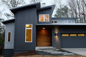 Decorations:Sleek Gray House Facade Idea With Industrial Outdoor Accent Wall  Style Outdoor Accent Wall