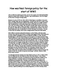 hitler s single aim in foreign policy was expand in the east how how was nazi foreign policy for the start of