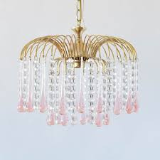 vintage italian pendant with pink glass