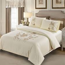 bamboo erfly embroidered four pcsbedding sets high quality 100 cotton duvet cover flatsheet