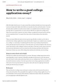Writing The Perfect Essay For College Applications How To Start A