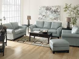 sofa sets for living room. Light Blue Leather Sofa Sets For Living Room Decorating With Brown Hardwood Flooring And Twin Table Lamp Also Coffee Equipped Abstract Painting .