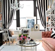 Fine Black And White Curtains View In Gallery To Inspiration Decorating