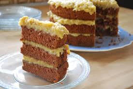 slice of german chocolate cake. Contemporary Cake German Chocolate Cake In Slice Of