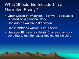 the middle school narrative essay it differs from a simple story what should be included in a narrative essay