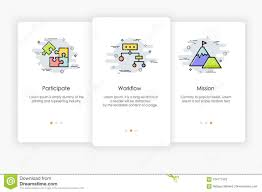 App Slider Design Onboarding Screens Design In Business Concept Stock Vector