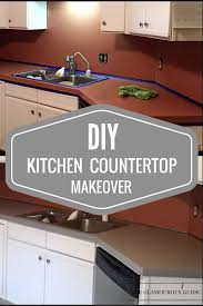 diy kitchen countertop makeover