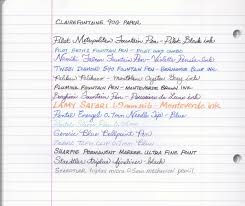 clairefontaine paper writer s bloc blog clairefontaine 90g paper writing test front