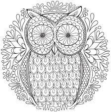 Free Owl Nature Mandala Coloring Page Inkleur Free Adult