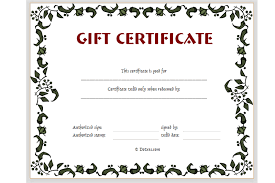 Free Printable Gift Certificates Template Gift Certificate Template Floral Design Dotxes