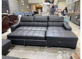 venus 3 seater leather double sofa bed