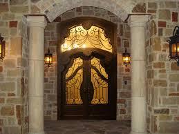luxury front doorsLuxury Double Iron Door with Eyebrow Transom  Traditional  Entry