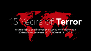 years of terror a time lapse map 15 years of terror a time lapse map